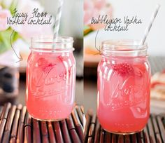 Candy Cocktails made with candy infused vodka