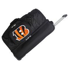 NFL Cincinnati Bengals Mojo 27 Rolling Drop Bottom Duffle Bag