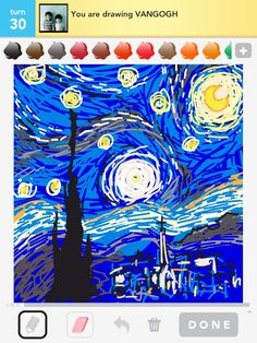 My Starry Night for the word 'Van Gogh'