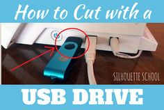 Silhouette CAMEO: How to Cut from a USB Drive (Silhouette School)