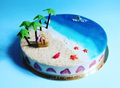 A commander sur notre site web. Beach Themed Cakes, Beach Cakes, Beautiful Cakes, Amazing Cakes, Ocean Cakes, Fantasy Cake, Mermaid Cakes, Cake Boss, Sweet And Salty