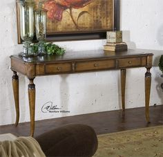 Uttermost Colter Honey Stained Writing Desk