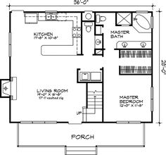 Country Floor Plan - Main Floor Plan Plan This country design floor plan is 1630 sq ft and has 3 bedrooms and has bathrooms. Small House Floor Plans, New House Plans, 1 Bedroom House Plans, 30x40 House Plans, The Plan, Plan Plan, How To Plan, Small House Decorating, Country Style House Plans