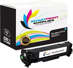 Smart Print Supplies 304A CC531A Cyan Compatible Replacement Toner Cartridge 1 Pack  Corresponding OEM Number: CC531A  Page Yield: 2,800 copies @ 5% coverage  Printer Compatibility: HP Color LaserJet CP2025  Box Contents: One CC531A Cyan replacement toner cartridge