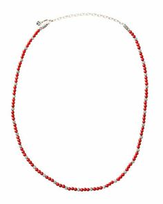 Mini Coral Bead Necklace by John Hardy at Neiman Marcus.