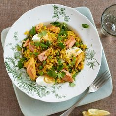 Smoky, spicy and ready in 20 minutes!  Speedy Salmon Kedgeree.