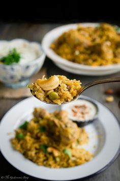 Chicken and Peas Pulao With Sweet-Spicy Cucumber Raita | The Gastronomic BONG