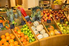 #Fresh #Seasonal #Fruit #Oranges #Melons #Limes #Rhubarb #Pineapples #Apples #Colourful #FoodHall #Piccadilly #Fortnums #FortnumAndMason