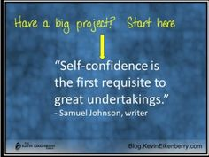 self confidence and project success Questions To Ponder, This Or That Questions, Project Success, Big Project, Self Confidence, Quotations, Leadership, You Got This, Writer
