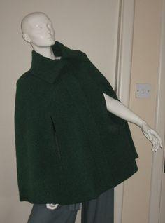 Handwoven green cape