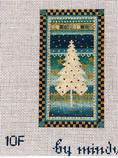 needlepoint pine tree from Mindy