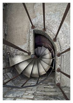 I love spiral staricases! Spiral staircase By: Line Martel Stairs And Staircase, Take The Stairs, Spiral Staircases, Stair Steps, Stairway To Heaven, Doorway, Pathways, Stairways, Architecture Details