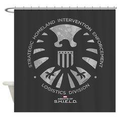Marvel Agents of S.H.I.E.L.D. Shower Curtain on CafePress.com