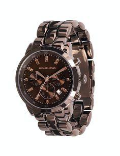 Luxury Watch Boutique - Michael Kors Ladies Espresso Showstopper Chronograph Watch MK5607, £210.00 (http://www.luxurywatchboutique.com/michael-kors-ladies-espresso-showstopper-chronograph-watch-mk5607/)