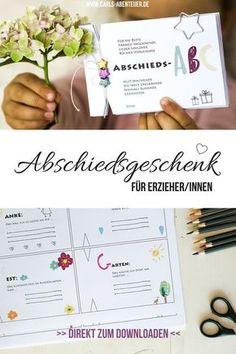 Farewell gift for educators: This gift to say goodbye to kindergarten will surely delight your educators. It is a farewell ABC as a farewell gift to kindergarten teachers. Cute Diy Crafts, Crafts For Kids, Kindergarten Lesson Plans, Kindergarten Teachers, Anniversary Crafts, Farewell Gifts, Creative Thinking, Belle Photo, Boyfriend Gifts