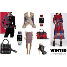 Winter Essentials: Plaid by #cherryorchardattic on #Polyvore featuring #VivienneWestwood, #StJohn, #Dollskill, #LesPetitsJoueurs, #Casetify, and #KateSpade. #winterfashion #plaid #tartan #applewatch #coat #jacket #handbags #styleblogger #fashionblogger #trends #style #fashion