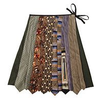 Neck tie skirt.... i think it would be easy to make one