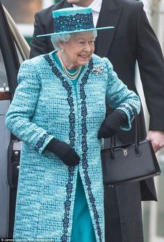 The royal chose the Lydia bag,  £1,020, for the Maundy Thursday Service, at Windsor Castle last week