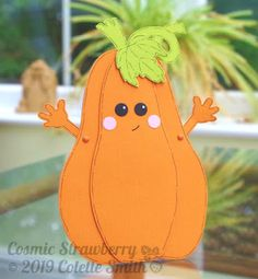 Cosmic Strawberry: Cute Pumpkin - Crafts Beautiful October 2019 designed by Colette Smith