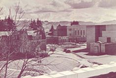 View of campus in 1937.  From the 1937 Oregana (University of Oregon yearbook).  www.CampusAttic.com