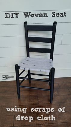 Diy How To Weave A Chair Seat Using Fabric Strips From