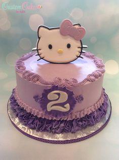 Hello Kitty cake in purple