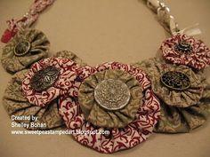 .: Yoyo Fabric Necklace: