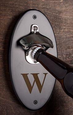 monogrammed wall mount bottle opener  http://rstyle.me/n/umjp2pdpe