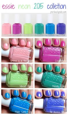 essie neon 2015 collection Review and Swatches