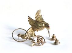 Vintage Avon Bird Pin Collection, Avon Hummingbird, Pretty Parrot Tack Pin, Moon Couple, Owl Couple Pin, Scatter Pins, Lapel Pins on Etsy, $20.00