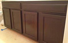 Antique Walnut and Carrington MinWax Gel Stain equals rich reddish brown
