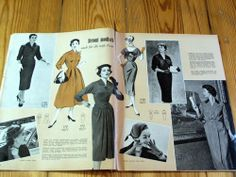 Modezeitschrift BURDA MODEN 10/1955 - 2 Schnittmuster-Bg 50er Jahre Festkleider | eBay