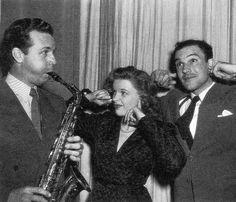 Dick Powell, Judy Garland, and Gene Kelly