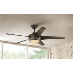 Home Decorators Collection Palm Cove 44 In Outdoor Natural Iron Ceiling Fan Cove Home And