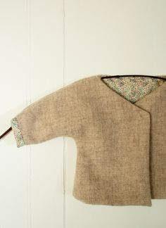 Molly's Sketchbook: Felted Wool Baby Jacket - Knitting Crochet Sewing Crafts Patterns and Ideas! - the purl bee