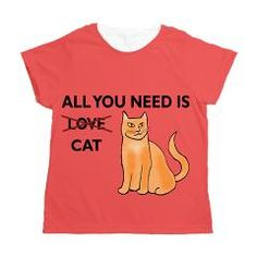 All You Need Is Cat Women's All Over Print T-Shirt