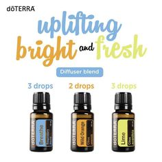 uplifting, bright, and fresh essential oil diffuser blend