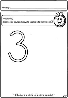Atividades com numerais de 1 a 5 para a Educação Infantil - Maternal ...