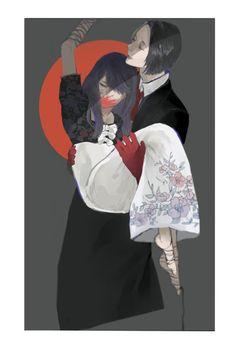 Furuta x Rize - Tokyo ghoul Kaneki, Tokyo Ghoul Rize, Fanart, Anime Merchandise, Anime Costumes, Memento Mori, Manga Anime, Animation, Nimura Furuta