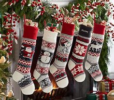 Boasting classic icons, our Natural Fair Isle Stocking Collection combines elements of a traditional Fair Isle knit combined with modern design. Grounded in charcoal and gray tones, this stocking collection makes for a stylish holiday addition ato… Wood Christmas Tree, Pallet Christmas, Burlap Christmas, Christmas Angels, Christmas Stuff, Christmas 2019, Christmas Projects, Christmas Ideas, Christmas Decorations