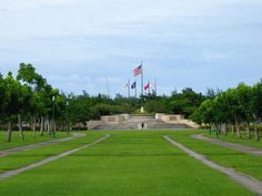 WORLD WAR II - American Memorial Park, near Garapan, Saipan Island, Northern Mariana Islands - The park's 133 acres are a living memorial honoring the sacrifices made during the Marianas Campaign of World War II. A World War II museum, and flag monument keep alive the memory of over 4,000 United States military personnel and local islanders who died in June 1944.