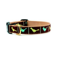Brown Songbird Dog Collar and Lead by Up Country - Spark Living - online boutique for unique home decor, gifts and accessories $18.00