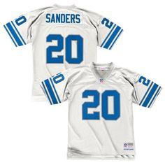 Barry Sanders 1996 Detroit Lions Mitchell  amp  Ness Road White Legacy Jersey  Men s b42b1b033