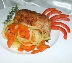 kurczak zapieczony z warzywami
