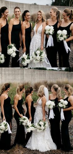 Simple One-shoulder Mermaid Side Slit Long Bridesmaid Dresses.DB10839 – DaintyBridal Cheap Bridesmaid Dresses, Wedding Dresses, Spring Festival, Famous Brands, Dream Dress, Dress Making, Mermaid, One Shoulder, Simple