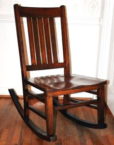 Antique Rocker Craftsman Mission Style Early American by VintageAD, $129.00