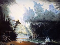 natures awesome watercolor paintings | Art by Clay Coller: Storm seascape painting