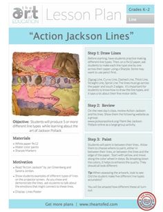 Action Jackson Lines: Free Lesson Plan Download