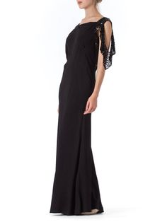 Bias Cut 1930s Gown with Sequin Sleeves   1stdibs.com