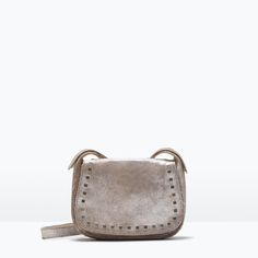 ZARA - SHOES & BAGS - STUDDED LEATHER MESSENGER BAG